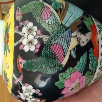 Gold imari vase - Asian