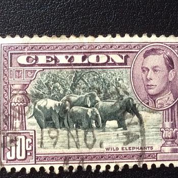 Ceylon stamp - Stamps