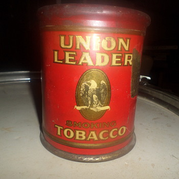 old tobacco can