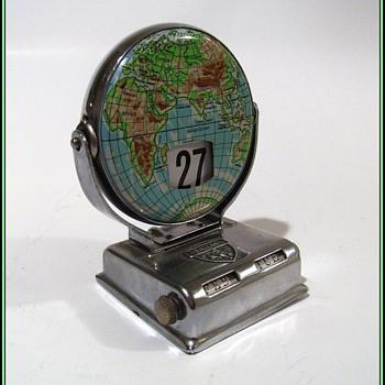 Vintage Perpetual Flip Calendar - Metal - Map