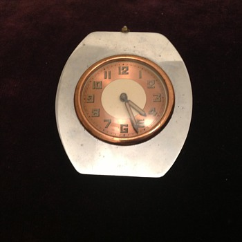 Antique French Art Deco French car? clock ca. 20's-30's.