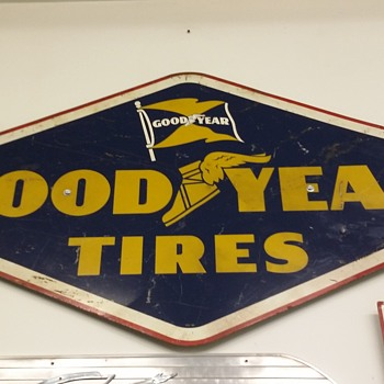 Goodyear tires porcelain sign - Signs