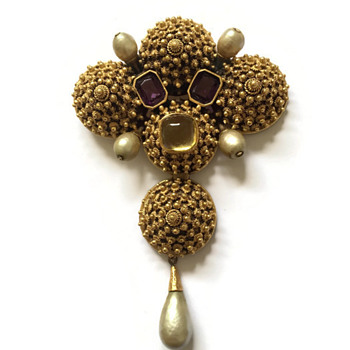 Vintage Diane Love for Trifari Chinese Mandarin Finial Pendant Brooch