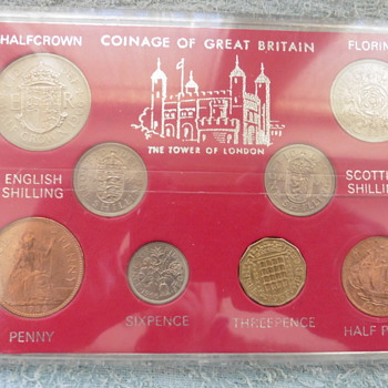 1966-1976 British coin sets.