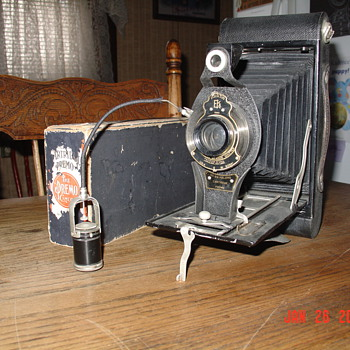 1910 Eastman Kodak Camera with Self Timer Attachment