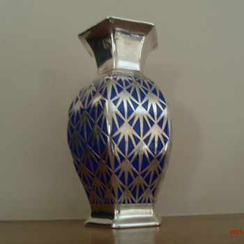 Rosenthal Bavaria sterling overlay vase c. 1920&#039;s/30&#039;s - Art Deco