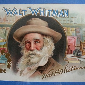 walt whitman cigar advertising labels ... have six cigar images depicti
