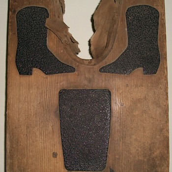 Unusual Bootjack (With Asphalt) for Cowboy Boots Collection Jim Linderman