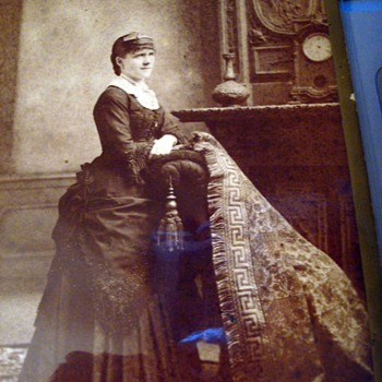 Cabinet Card Lady With a Rug