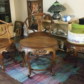 Antique tea table set