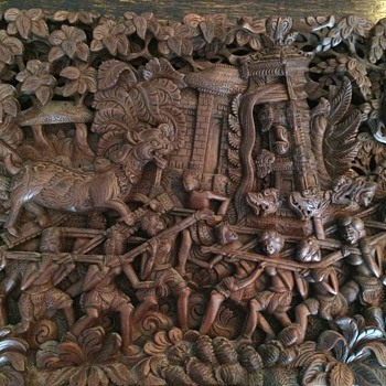 Bali Mythical Beasts Carving - Visual Art