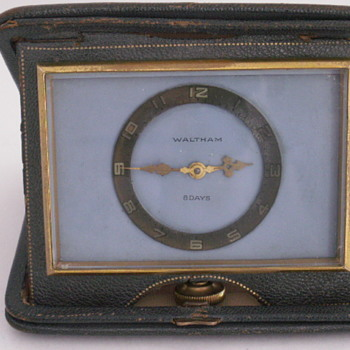American Waltham 8-Day Travel Clock - Clocks