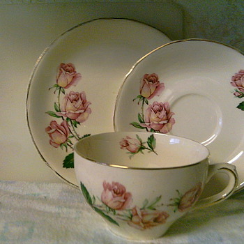 3 piece cup, saucer, bread plate