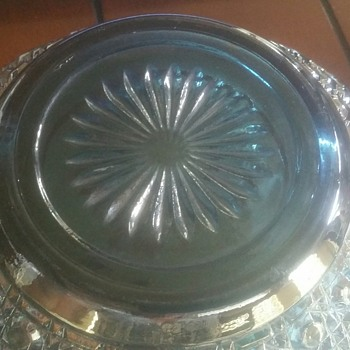 Brilliant blue Carnival Glass Bowl