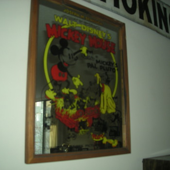 Mickey Mouse Club mirror -- dated 1933 - Signs