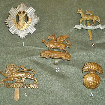 Badges for all 1914 British Line Infantry Regiments, Part 1