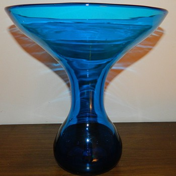 Blenko glass Vase mid modern