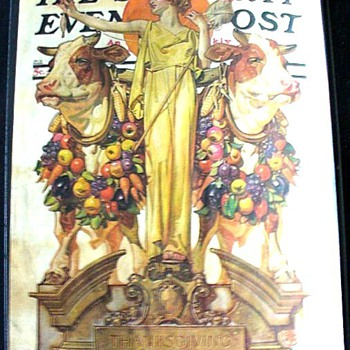 J.C. LEYENDECKER'S THANKSGIVING COVERS V - Advertising