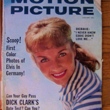 Old Movie Magazine of Elvis 1st photo's in Army  - Movies
