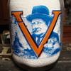 Canadian Churchill War Slogan Milk Bottle.....