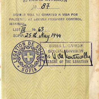 1944 passport used for escape - Paper