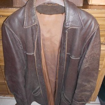 Vintage - 60's/70's Men's Leather Jacket with Talon Zipper -