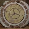 Old Wooden Mercedes Sign 