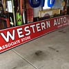 WESTERN AUTO porcelain sign made by the Veribrite Signs-Chicago