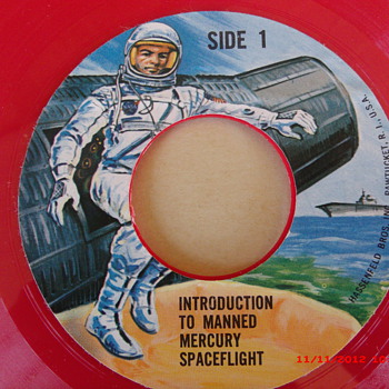 Two 1966 G.I. Joe Space Capsule 45rpm's  - Toys