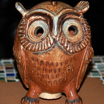 Pottery Owl Bank - by Dr. Harold Mantz  - Coin Operated