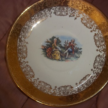 Great-Uncle's Crest-O-Gold Salad Plates - China and Dinnerware