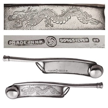 Chinese Silver Dragon Boatswains Whistles - Musical Instruments