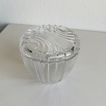 Unknown glass covered dish  - Glassware
