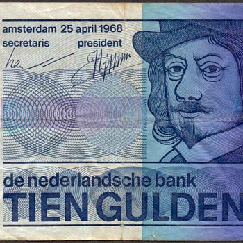 Netherlands - (10) Gulden Bank Note