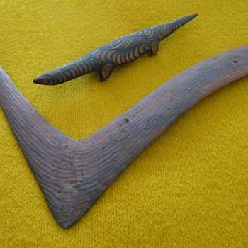"""PUNU"" - CARVED GOANNA MULGA POKER WORK"