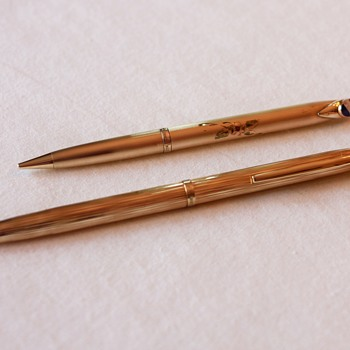 His/Her Kreisler Karat Crown HGE Mechanical Pencils with Pepsi Logos