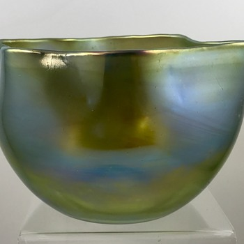 Unusual Loetz Bowl, signed, PN and decor unknown, ca. 1900