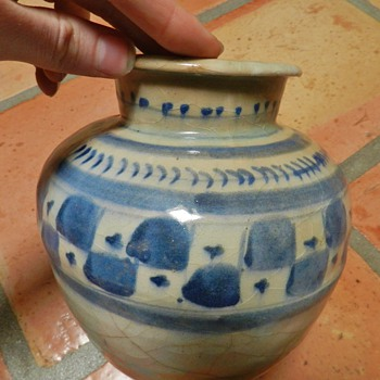 Unknown VERY old Cobalt Vase/Jar - Art Pottery