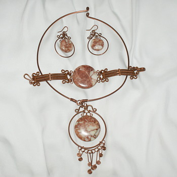 Unusual Handmade Copper Parure