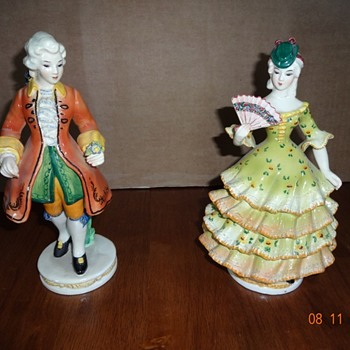 Beautiful man and woman figurines