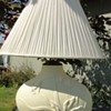 Beautiful bisque Lily lamp