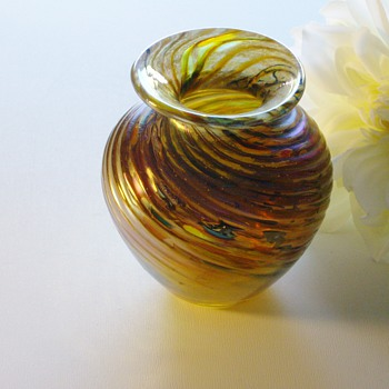 Dichroic Glass Vase - highly textured
