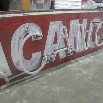 1950's Neon VACANCY MOTEL sign 2-sided
