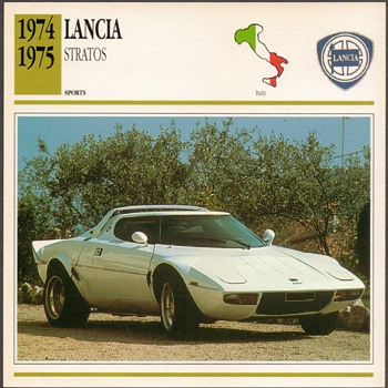 Vintage Car Card - Lancia Stratos - Classic Cars