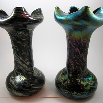 "Rindskopf Striated production variation, or ""Mom always liked you best!"" - Art Glass"