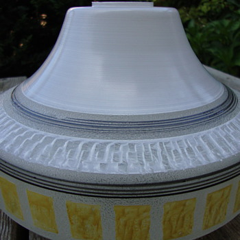 50s glass lamp shade enamel painted