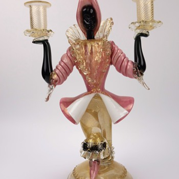 Murano Blackamoor Candleholder - Art Glass