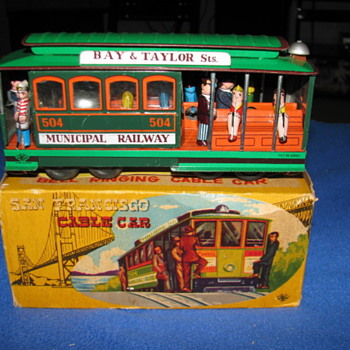 Toy Cable Car with Original Box Japan