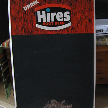 1972 Donasco HIRES Root Beer Tin Menu Board - Signs