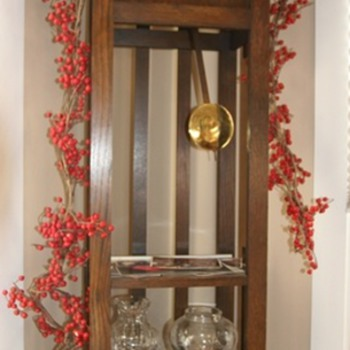 My G-G-G'parent's 1914 Gilbert mission-style grandfather clock
